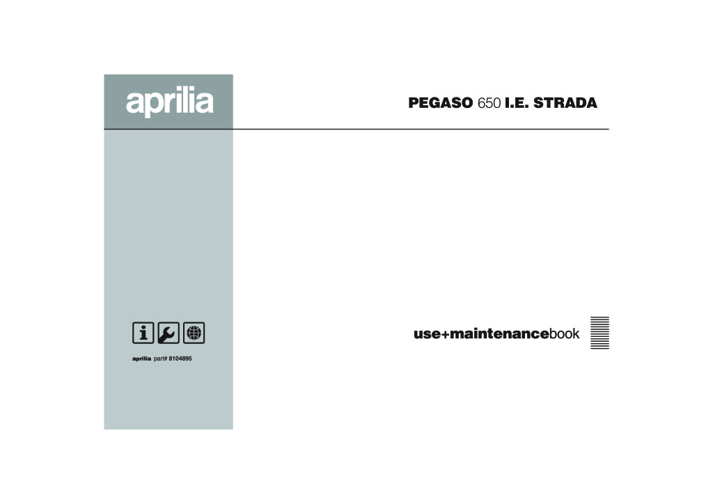 Aprilia Pegaso 650 Ie Strada 2005 Owners Manual Wiring